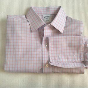 Brooks Brothers 346 Button Up Dress Shirt Plaid